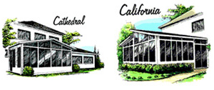 Cathedral and California Style Sunrooms - 3 Season Room Design