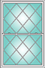 Diamond Grid Pattern Options for OKNA Casement Windows installed by Buschurs Home Improvement